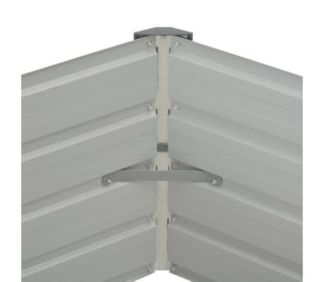 vidaXL Plantenbak verhoogd 129x129x46 cm gegalvaniseerd staal groen[5/6]