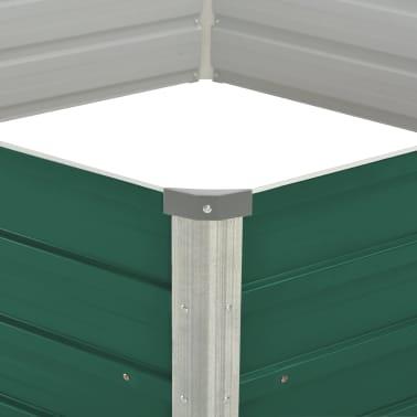 vidaXL Plantenbak verhoogd 129x129x46 cm gegalvaniseerd staal groen[4/6]