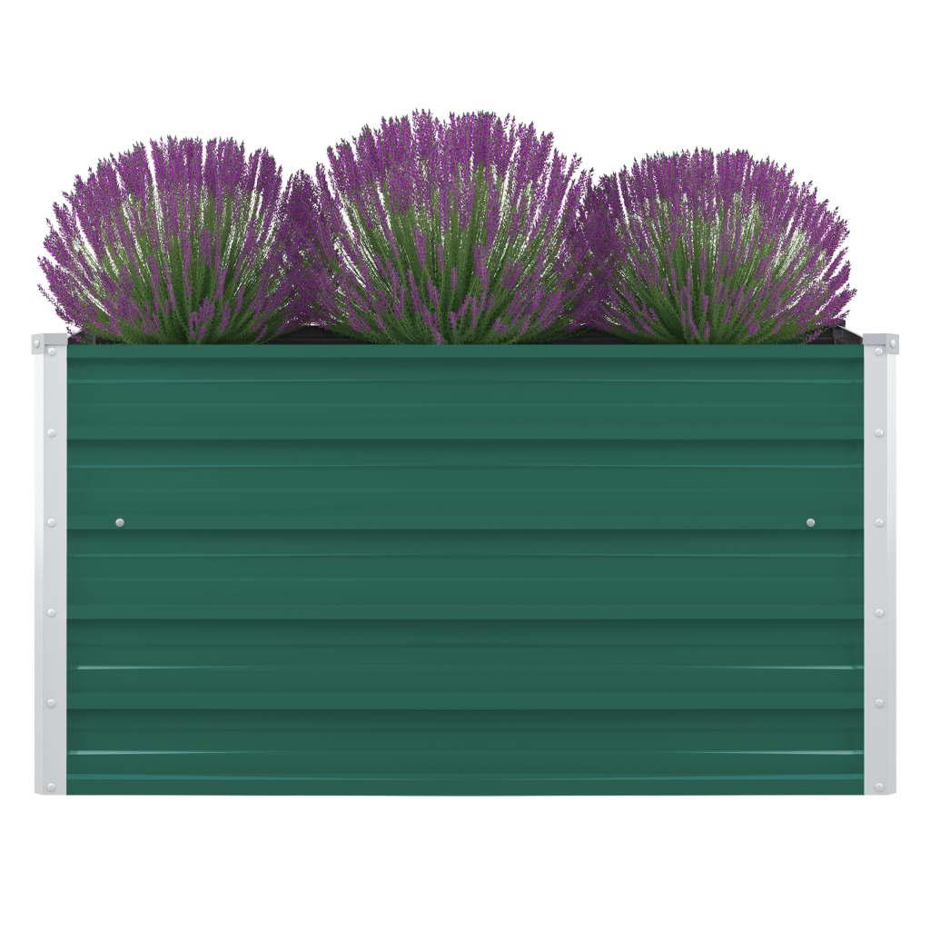Vyvýšený zahradní záhon 100x100x45 cm pozinkovaná ocel zelený