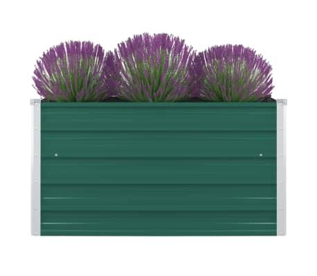 vidaXL Plantenbak verhoogd 100x100x45 cm gegalvaniseerd staal groen[1/6]