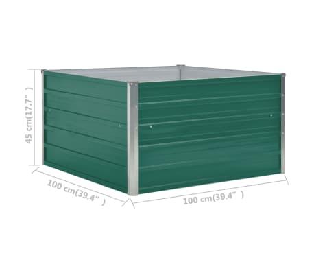vidaXL Plantenbak verhoogd 100x100x45 cm gegalvaniseerd staal groen[6/6]