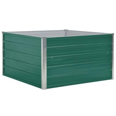 vidaXL Plantenbak verhoogd 100x100x45 cm gegalvaniseerd staal groen[2/6]