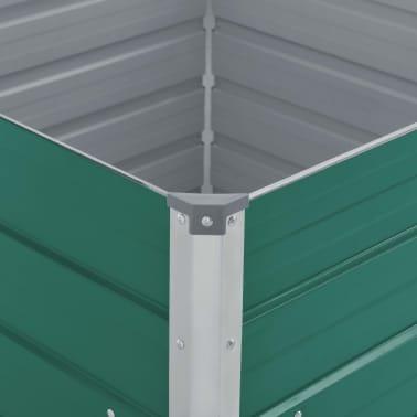 vidaXL Plantenbak verhoogd 100x100x45 cm gegalvaniseerd staal groen[4/6]