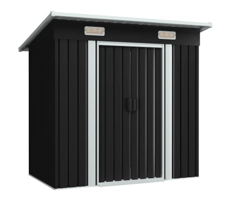 vidaXL Garden Shed Anthracite Steel