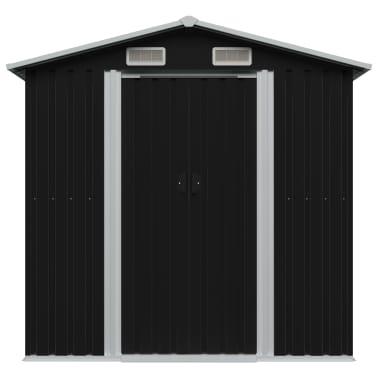 vidaXL Gartenschuppen Anthrazit Stahl 204 x 132 x 186 cm[2/8]