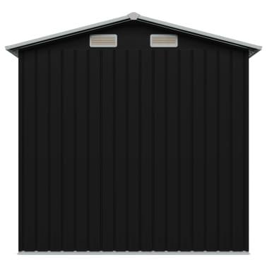 vidaXL Gartenschuppen Anthrazit Stahl 204 x 132 x 186 cm[5/8]