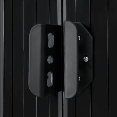 vidaXL Capanno Attrezzi da Giardino Antracite Acciaio 204x132x186 cm[7/8]