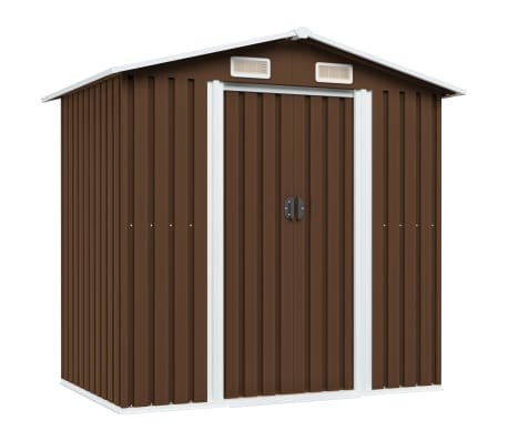 "vidaXL Garden Storage Shed Brown 80.3""x52""x73.2"" Steel"