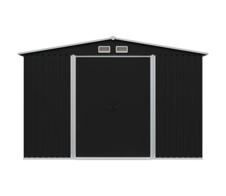 vidaXL Tuinberging 257x205x178 cm staal antraciet[2/8]
