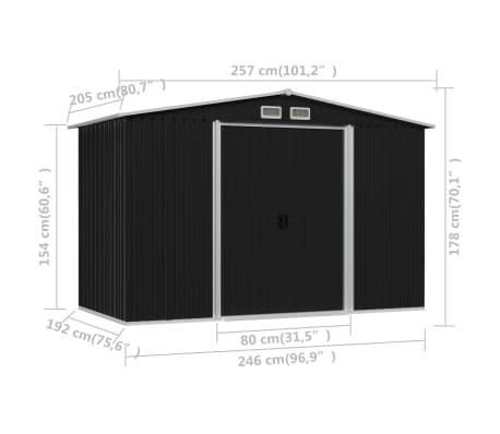 vidaXL Tuinberging 257x205x178 cm staal antraciet[8/8]