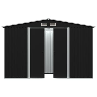 vidaXL Tuinberging 257x205x178 cm staal antraciet[3/8]