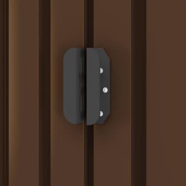 vidaXL Záhradná úložná kôlňa hnedá 257x205x178 cm oceľová[7/8]