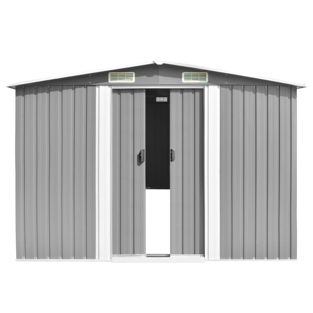 vidaXL Tuinschuur 257x990x181 cm gegalvaniseerd staal grijs