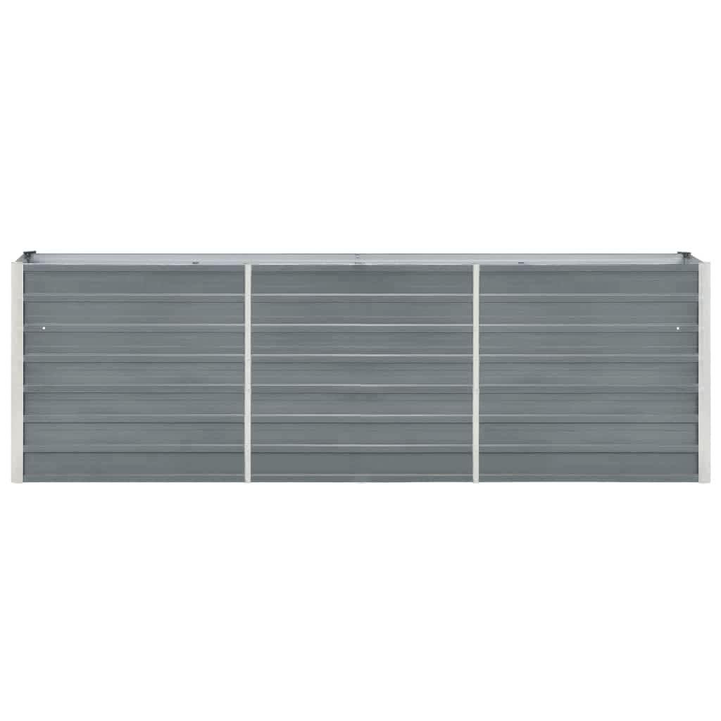 Taimekast, tsingitud teras, 240 x 40 x 77 cm, hall
