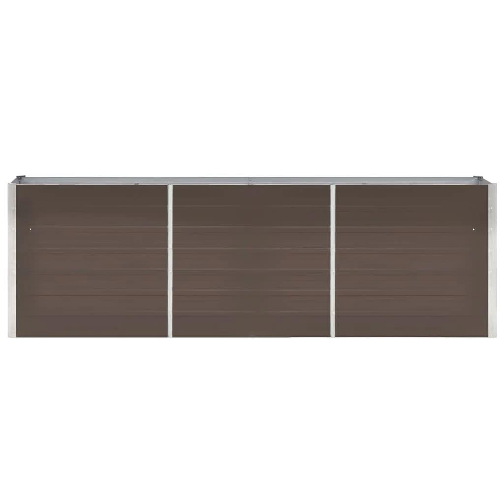 Taimekast, tsingitud teras, 240 x 40 x 77 cm, pruun