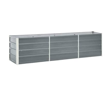 47044 vidaXL Garden Raised Bed Galvanised Steel 240x40x45 cm Grey