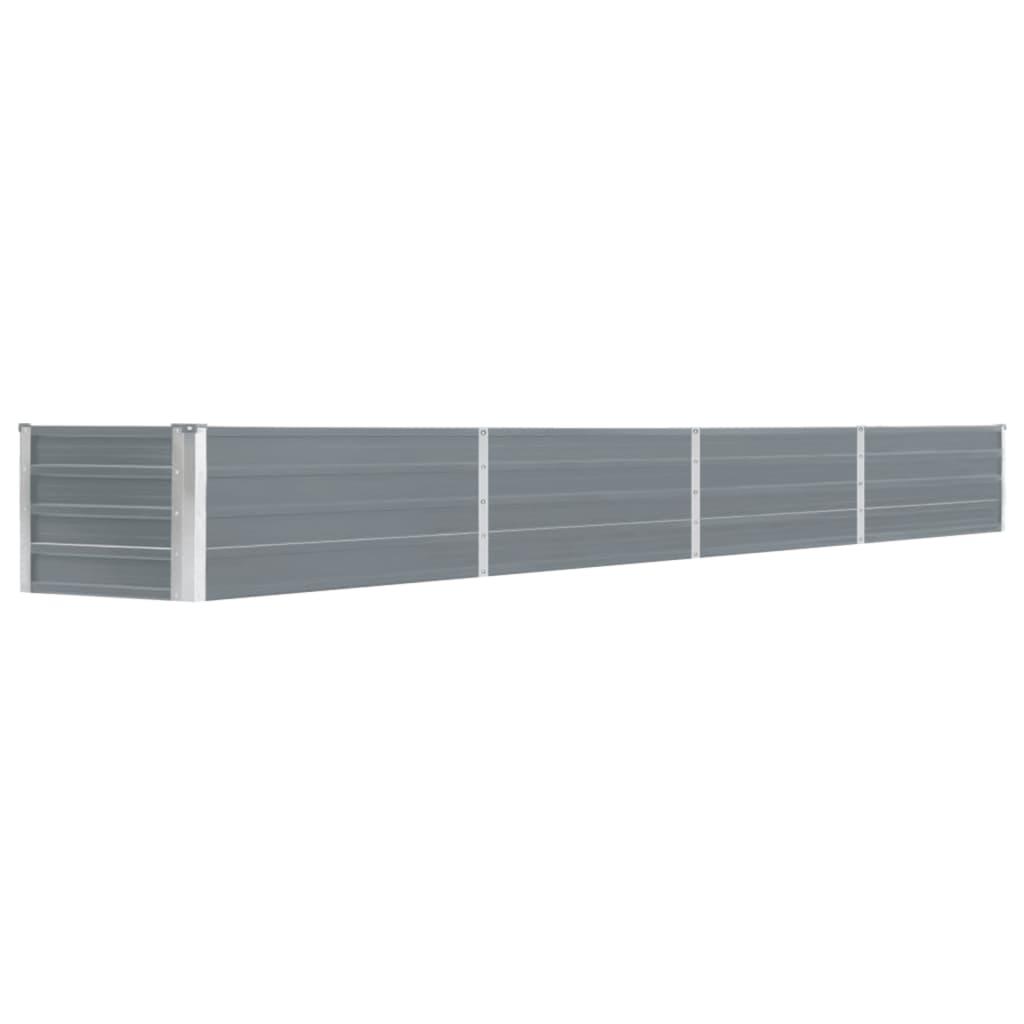 vidaXL Strat înălțat de grădină, gri, 320x40x45 cm, oțel galvanizat poza 2021 vidaXL