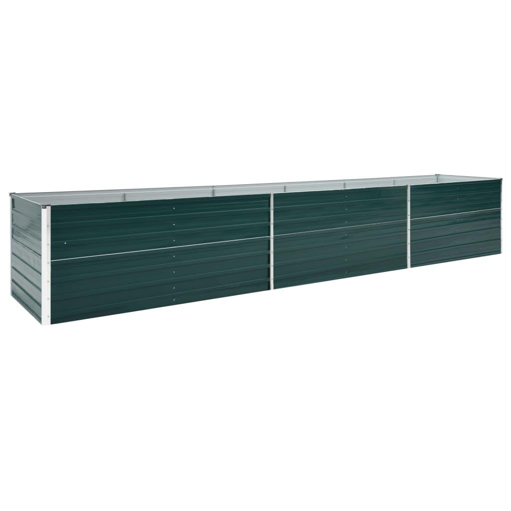 vidaXL Zahradní truhlík pozinkovaná ocel 480 x 80 x 77 cm zelený