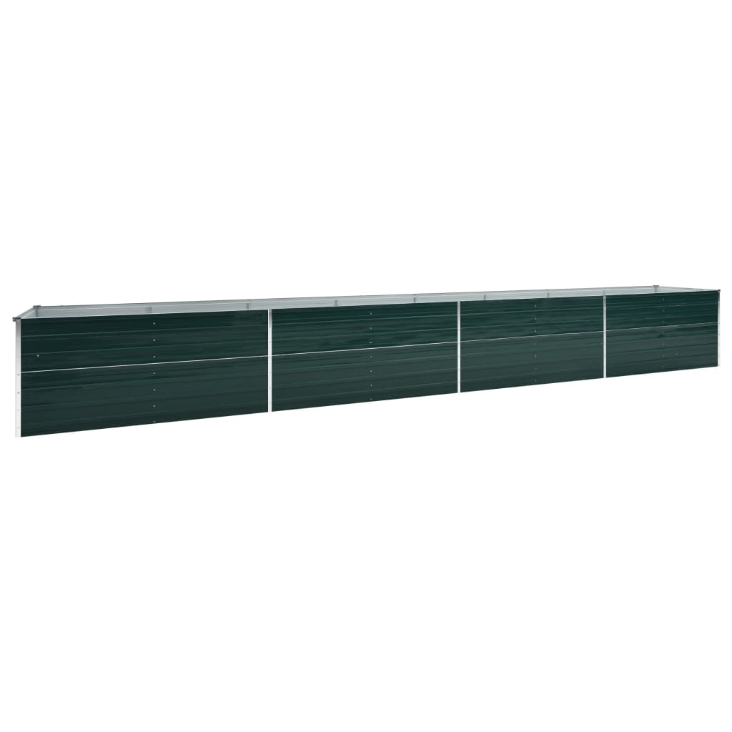 vidaXL Strat înălțat de grădină, verde, 600x80x77 cm, oțel galvanizat poza 2021 vidaXL