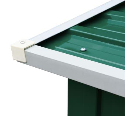 vidaXL Malkinė, žalios spalvos, 172x91x154cm, galvanizuotas plienas[5/6]