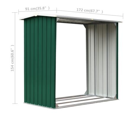 vidaXL Malkinė, žalios spalvos, 172x91x154cm, galvanizuotas plienas[6/6]