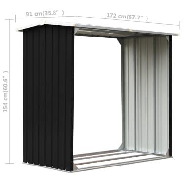 vidaXL Malkinė, antracito spalvos, 172x91x154cm, galvanizuotas plienas[6/6]