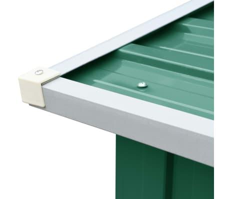 vidaXL Haardhoutschuur 330x92x153 cm gegalvaniseerd staal groen[5/6]