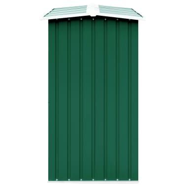 vidaXL Haardhoutschuur 330x92x153 cm gegalvaniseerd staal groen[4/6]