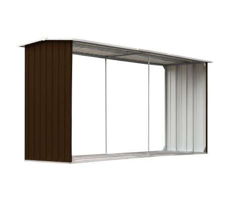 vidaXL Sodo malkinė, ruda, 330x92x153cm, galvanizuotas plienas[2/6]