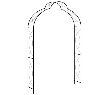 vidaXL Garden Arch Black 150x34x240 cm Iron