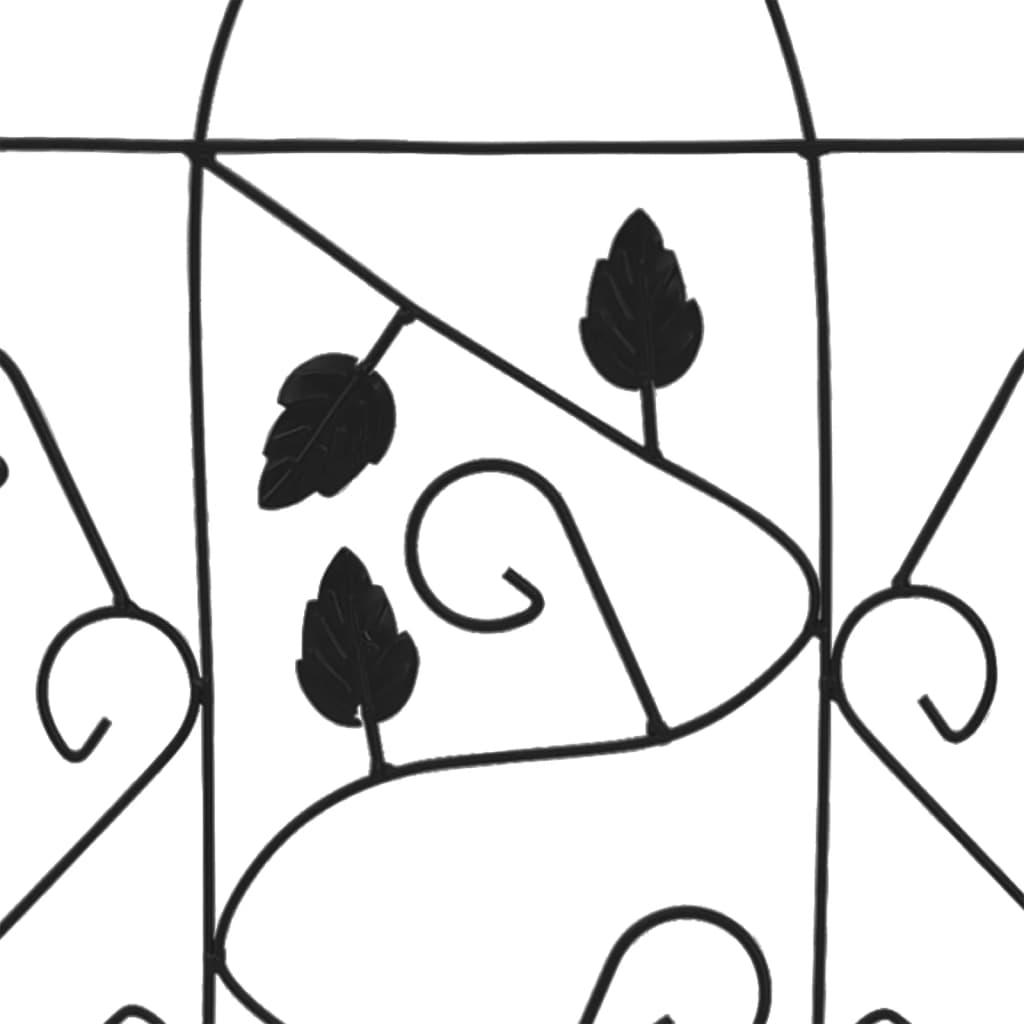 vidaXL Plantenklimrekken 3 st 40x100 cm ijzer zwart