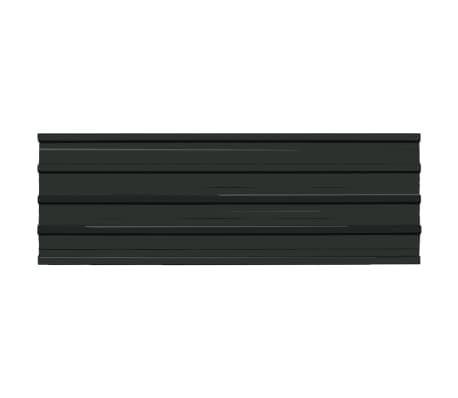 vidaXL Stogo plokštės, 12 vnt., antracito sp., galvanizuotas plienas[2/4]