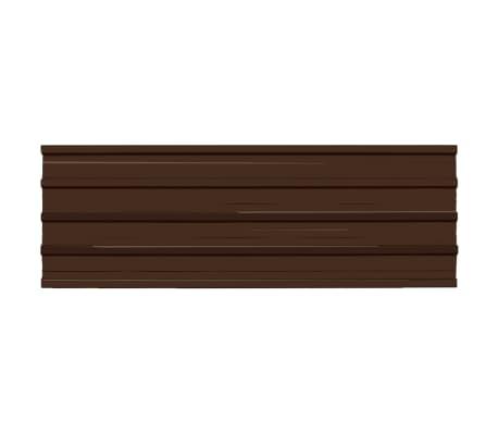 vidaXL Stogo plokštės, 12 vnt., rudos spalvos, galvanizuotas plienas[2/4]