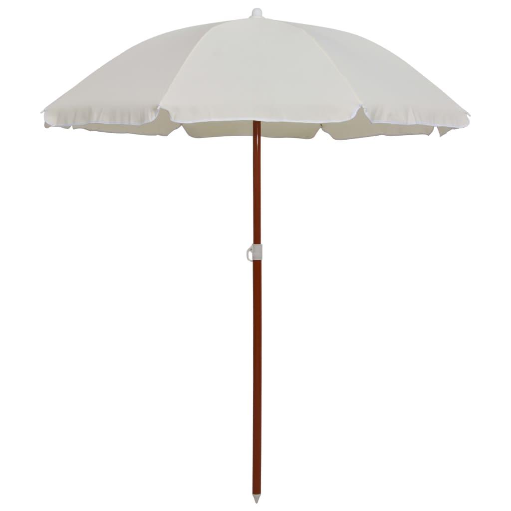 vidaXL parasol med stålstang 180 cm sandfarvet