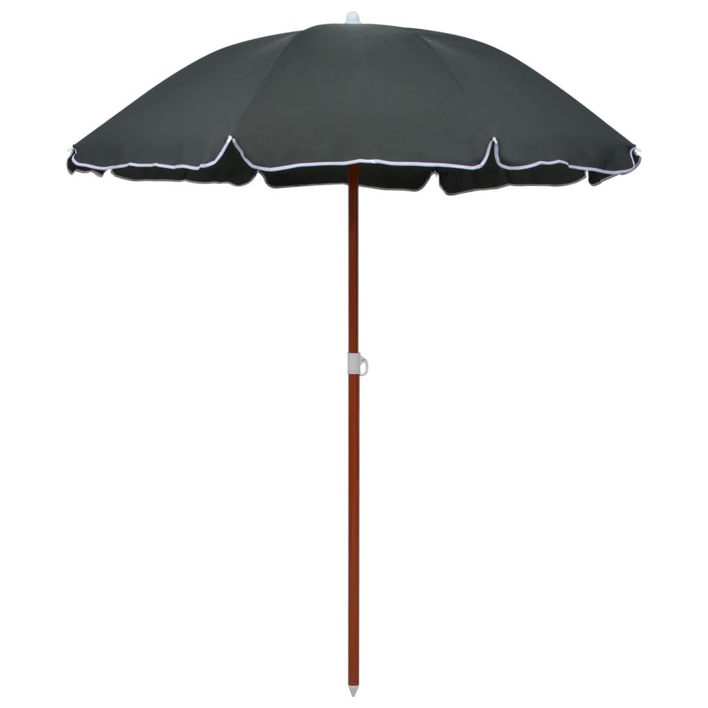 vidaXL parasol med stålstang 180 cm antracitgrå