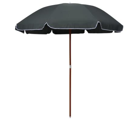 vidaXL Sombrilla con palo de acero gris antracita 240 cm