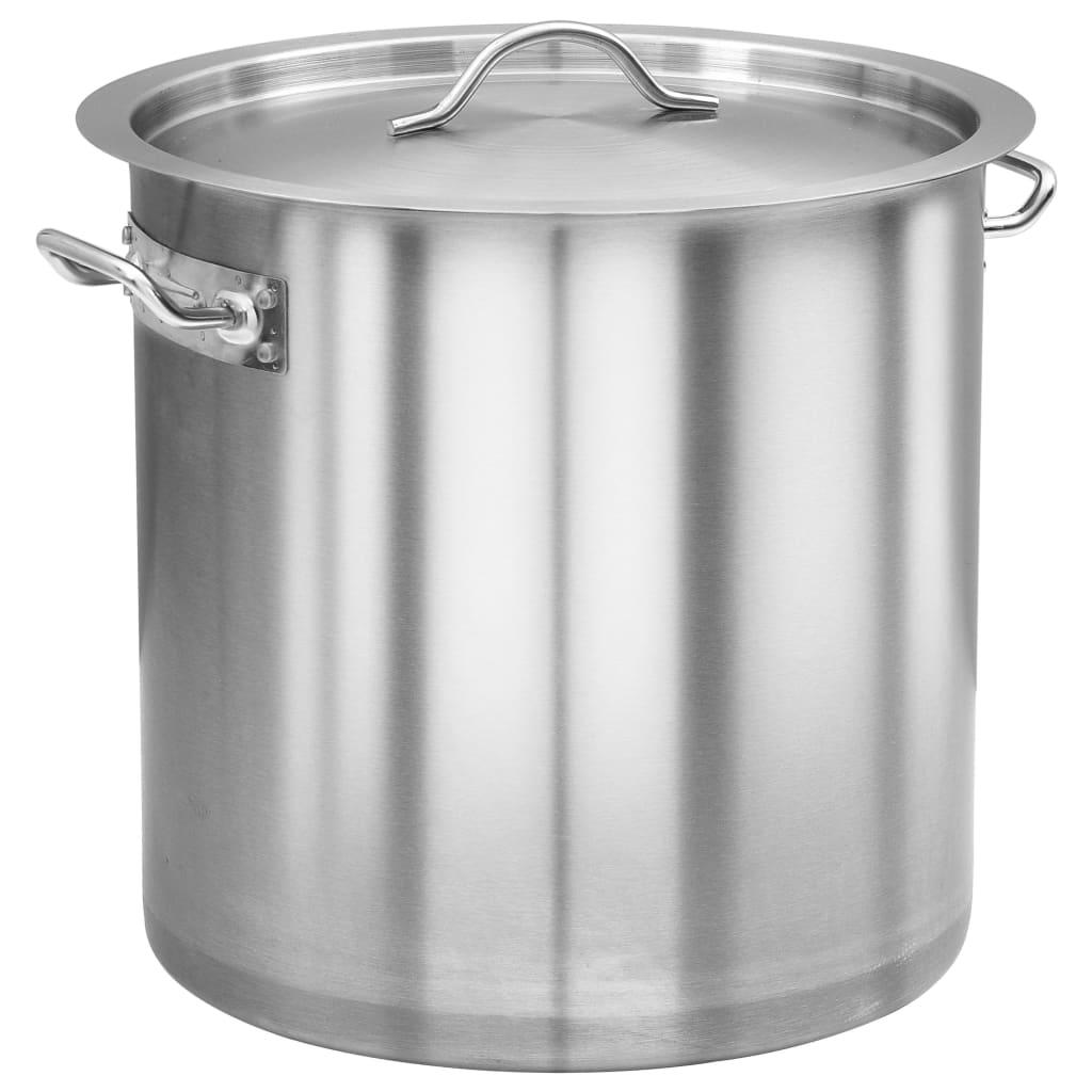 vidaXL Oală de supă, 32 x 32 cm, oțel inoxidabil, 25 L imagine vidaxl.ro