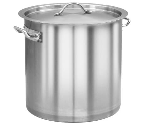 vidaXL Stock Pot 25 L 32x32 cm Stainless Steel