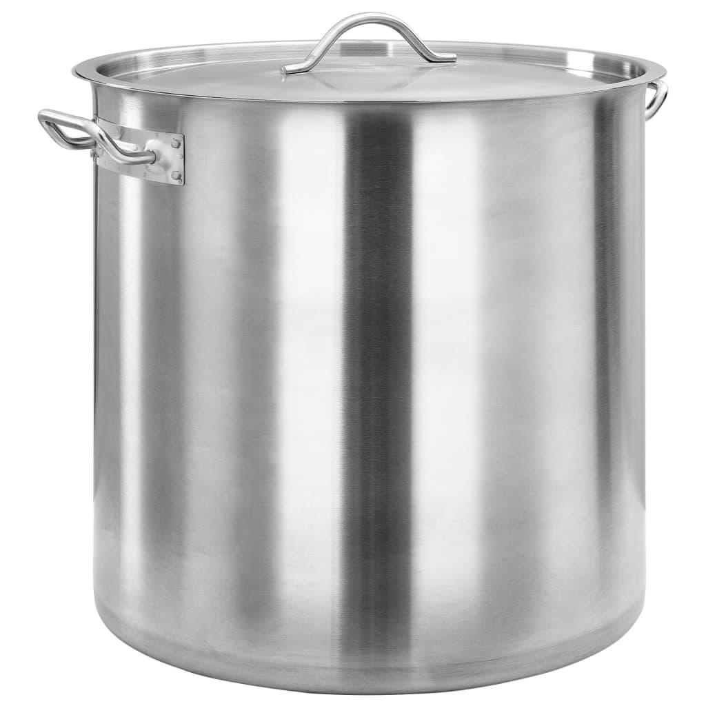 vidaXL Hrnec na polévku 71 l 45 x 45 cm nerezová ocel