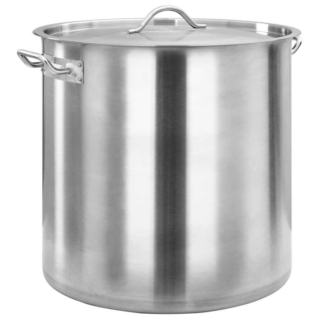 vidaXL Hrnec na polévku 98 l 50 x 50 cm nerezová ocel