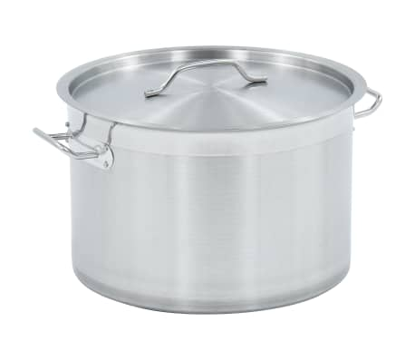 vidaXL Stock Pot 23 L 35x22 cm Stainless Steel