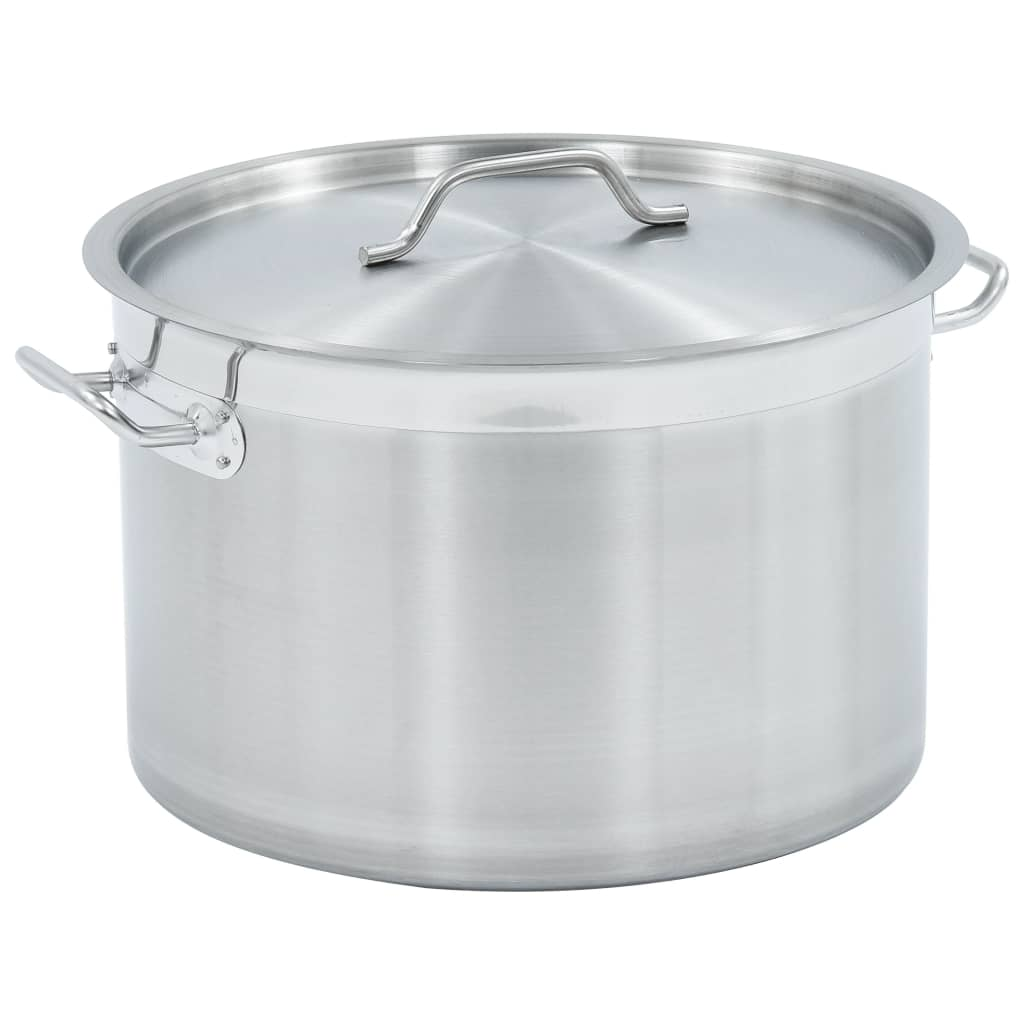 vidaXL Oală de supă, 40 x 26 cm, oțel inoxidabil, 32 L imagine vidaxl.ro