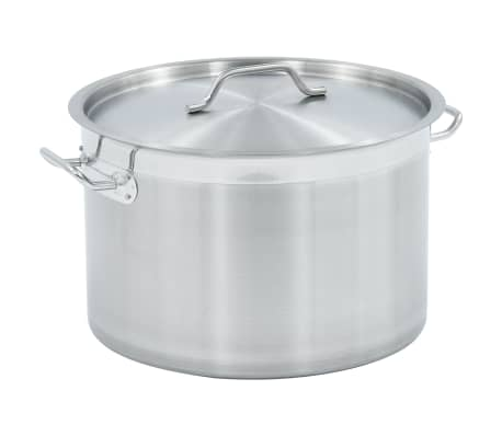 vidaXL Stock Pot 32 L 40x26 cm Stainless Steel