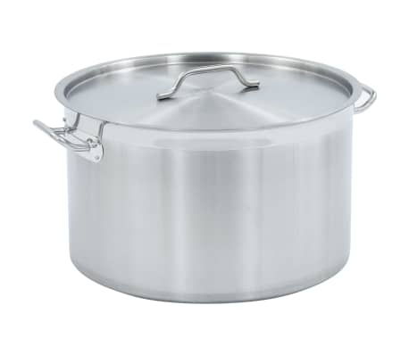 vidaXL Stock Pot 58 L 50x30 cm Stainless Steel
