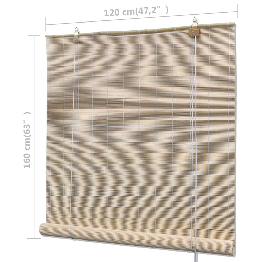 vidaXL Rolgordijnen 4 st 120x160 cm bamboe natuurlijk