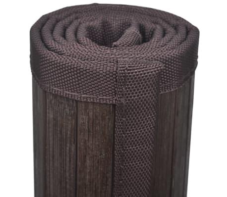 vidaXL Badmatten 4 st 60x90 cm bamboe donkerbruin[6/6]