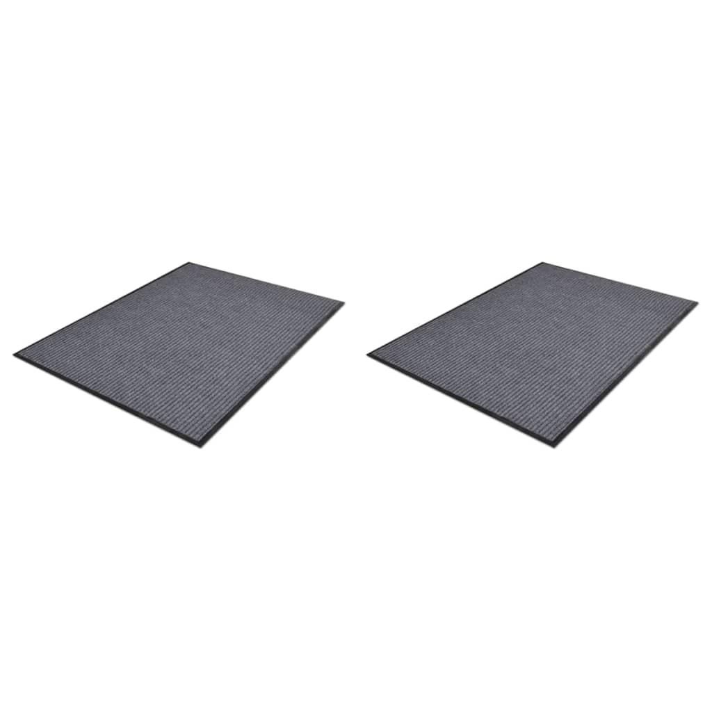 PVC rohožky 2 ks šedé 90 x 60 cm