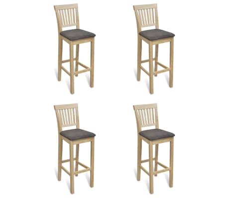 vidaXL Bar Chairs 4 pcs Wood[1/6]