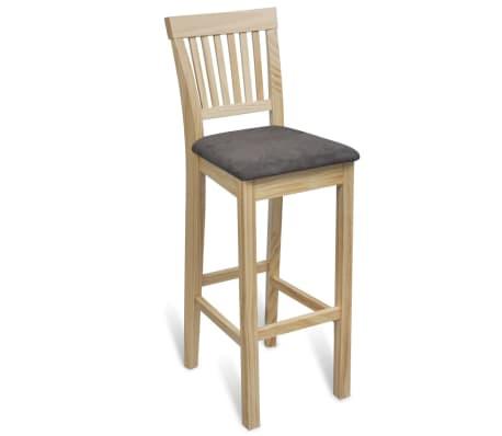vidaXL Bar Chairs 4 pcs Wood[2/6]