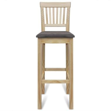 vidaXL Bar Chairs 4 pcs Wood[3/6]
